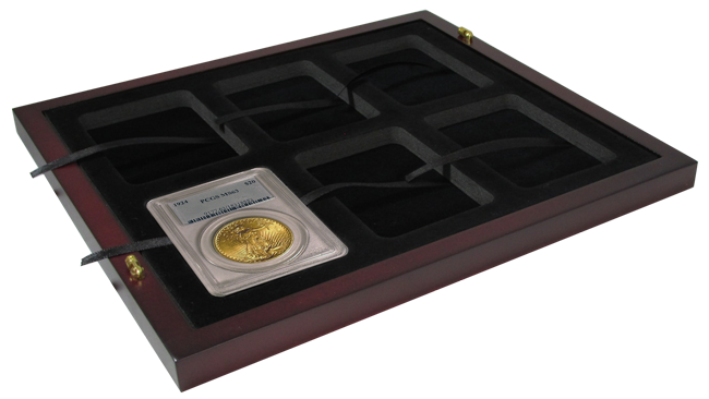 Guardhouse Wood Tray for Certified Coin Slabs