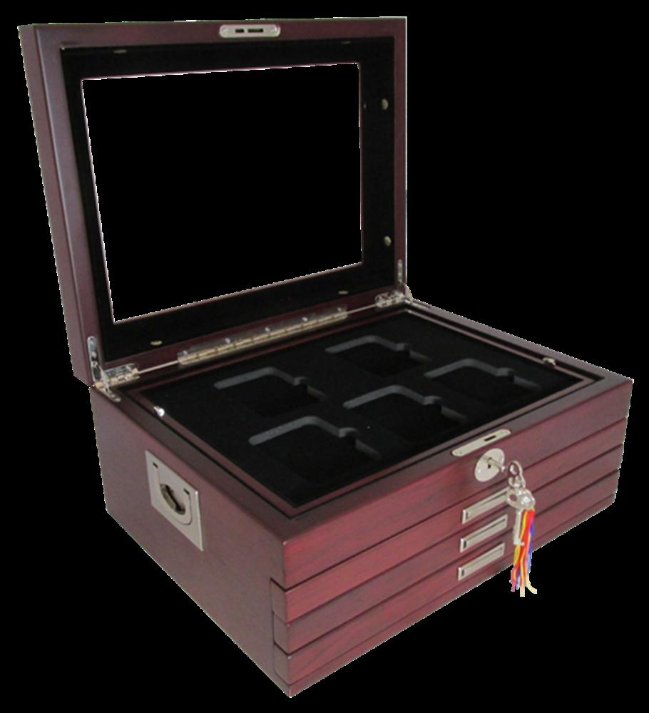 Multi-tray, Deluxe Glass-top, Latch Key (20 slabs) Flat Hinge Handles Multi-tray, Deluxe Glass-top, Latch Key (20 slabs) Flat Hinge Handles, GH-DELUX-W20