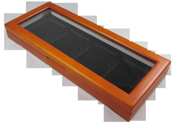 Guardhouse Glass Top Display Box for 4 Slabs - Light Cedar