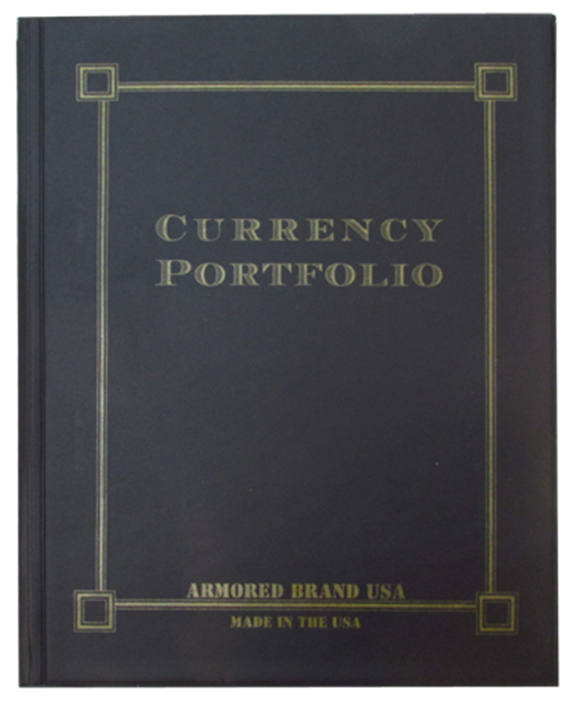 Currency Portfolio for Modern & Large Notes - Black