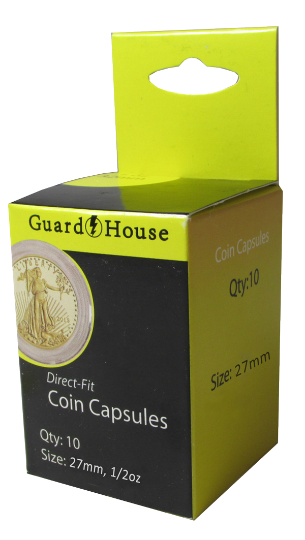 Guardhouse 1/2 oz American Gold Eagle Coin Capsule - 10 PK