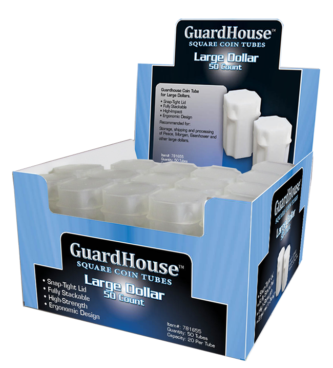Guardhouse Large Dollar Coin Tube - 50 Pack