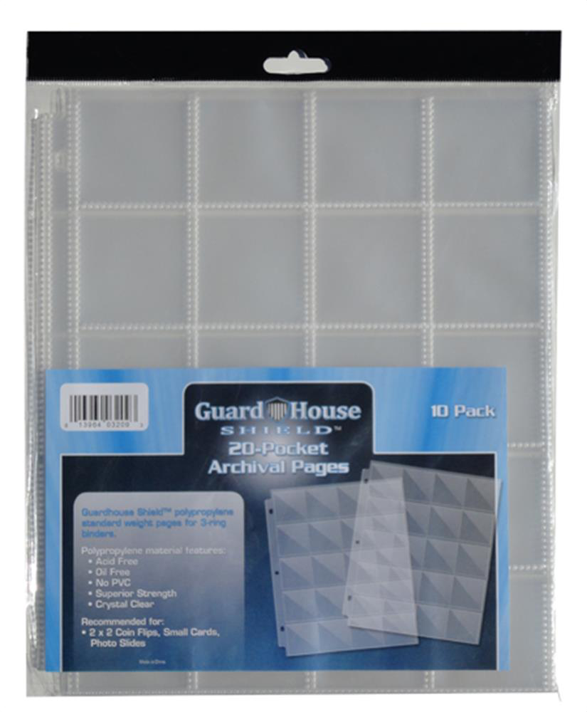 Archival Guardhouse Polypropylene 2x2 Pocket Pages Archival, Guardhouse, Polypropylene, 2x2, Pocket Pages