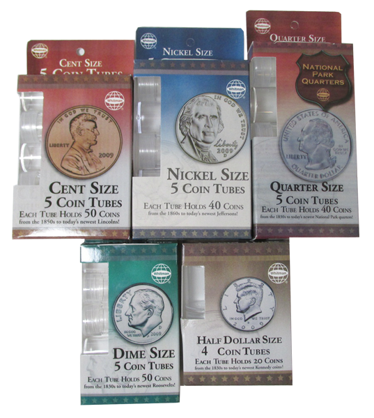 H.E. Harris & Co Round Coin Tubes | Small Packs coin tube, he harris, whitman, round