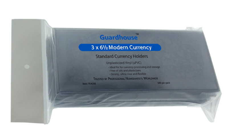 Guardhouse Standard Currency Sleeves and Currency Holders