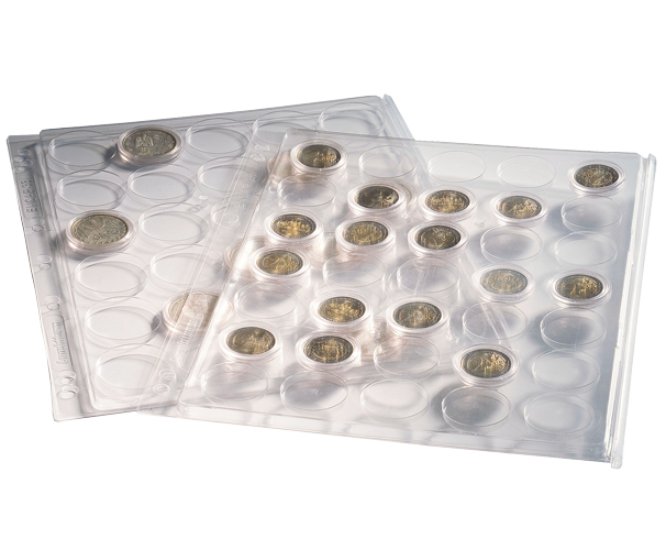 Coin Capsule Pages for Notebook Binders coin capsule, binder pages