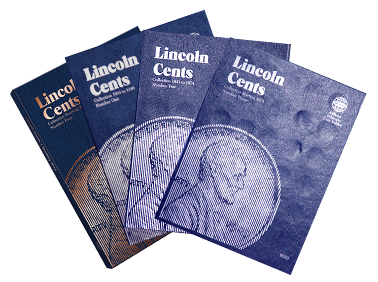 Official Whitman Lincoln Cent Folders 1 thru 4 | 1909 - 2023 whitman, lincoln, cent, coin folders, 9004, 9030, 9033, 4004