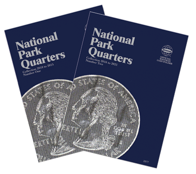 2010-2021 Coin Folder Album Book Whitman National Parks Quarters Volume 1 /& 2