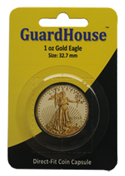 1 oz American Gold Eagle Direct Fit Guardhouse Capsule - Single Pack