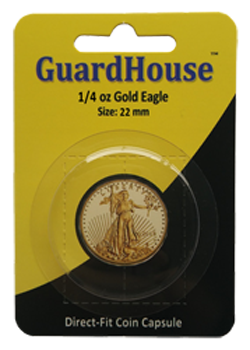 Guardhouse 1/4 oz American Gold Eagle Coin Capsule - Retail Pack