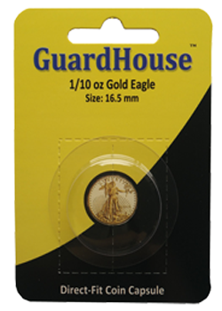 Guardhouse 1/10 oz American Gold Eagle Coin Capsule - Retail Pack