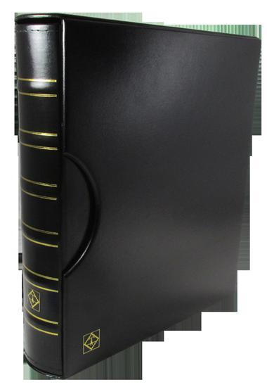 Grande Classic 3 Ring Binder w 4 ENCAPSLAB Pages - Black