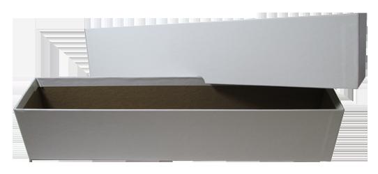 Single Row Auction Style Slab Box - White