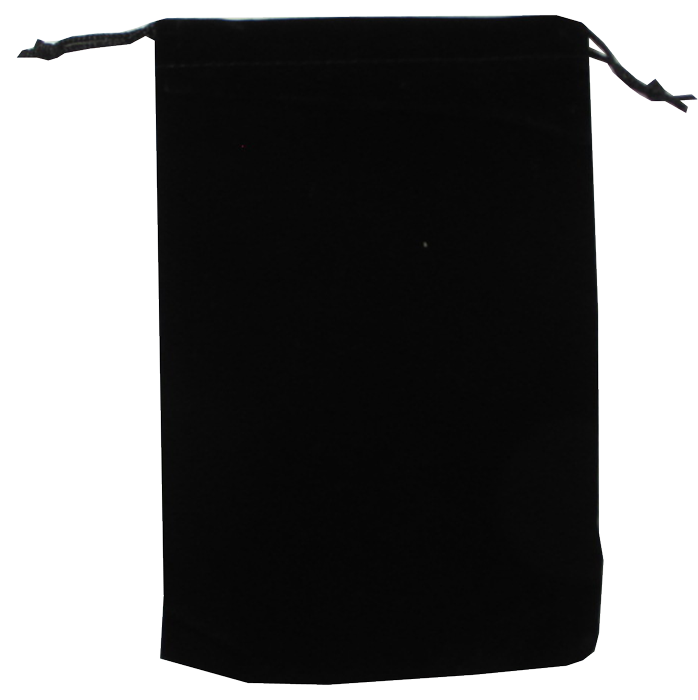 Guardhouse Black Velour Drawstring Pouch - 5 x 7.5