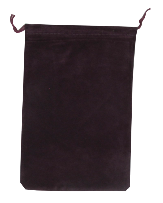Guardhouse Maroon Velour Drawstring Pouch - 5 x 7.5