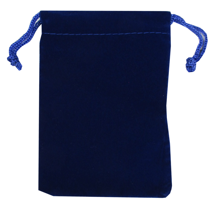 Guardhouse Royal Blue Velour Drawstring Pouch - 3 x 4.25