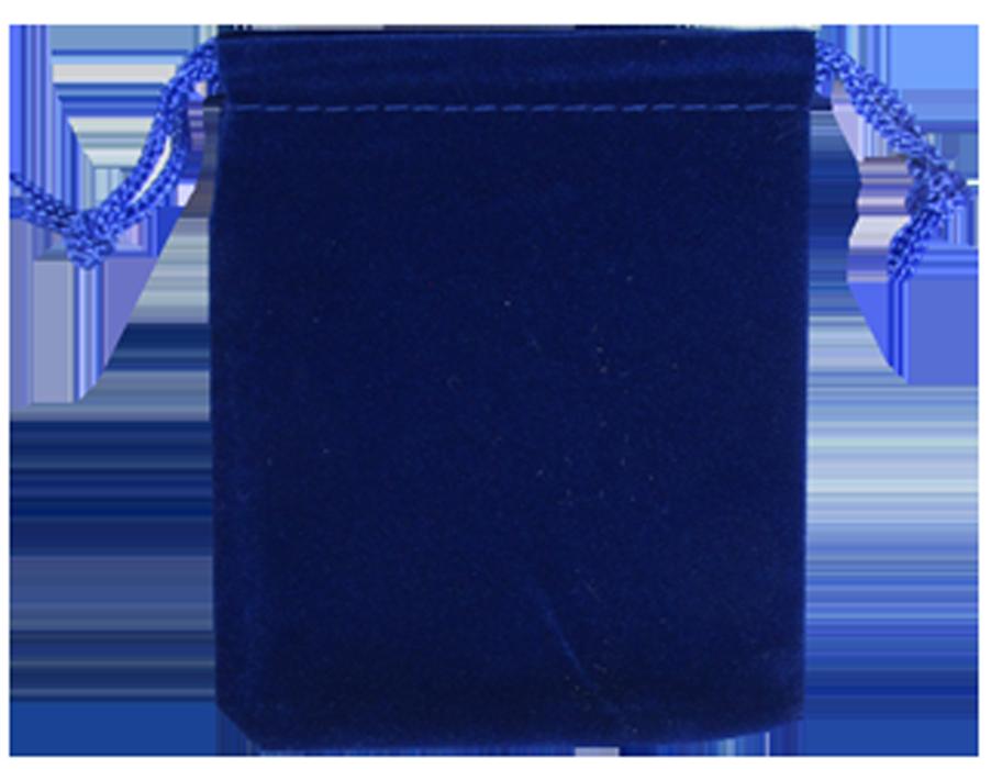 Guardhouse Royal Blue Velour Drawstring Pouch - 2.75 x 3.25