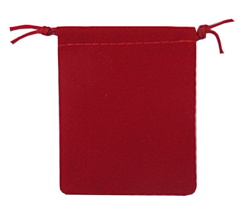 Guardhouse Red Velour Drawstring Pouch - 2.75 x 3.25