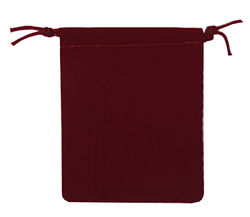 Guardhouse Maroon Velour Drawstring Pouch - 2.75 x 3.25