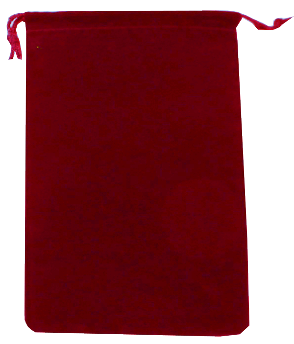 Guardhouse Red Velour Drawstring Pouch - 5 x 7.5