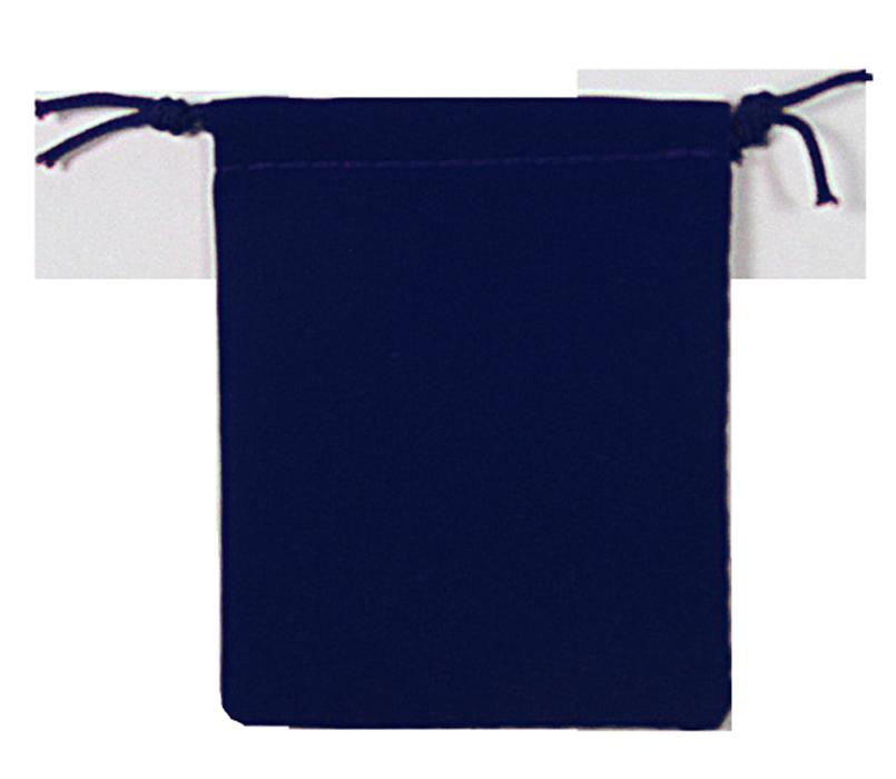 Guardhouse Navy Blue Velour Drawstring Pouch - 2.75 x 3.25