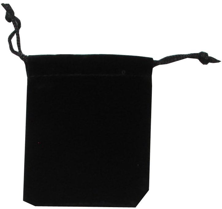 Guardhouse Black Velour Drawstring Pouch - 2.75 x 3.25