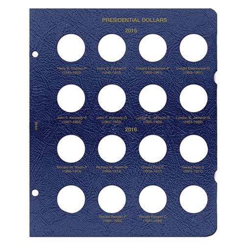 Presidential Dollars Album Page P & D 2015 - 2016