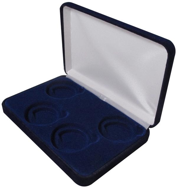 Velvet Coin Capsule Box ( 4 L ) - Navy Blue