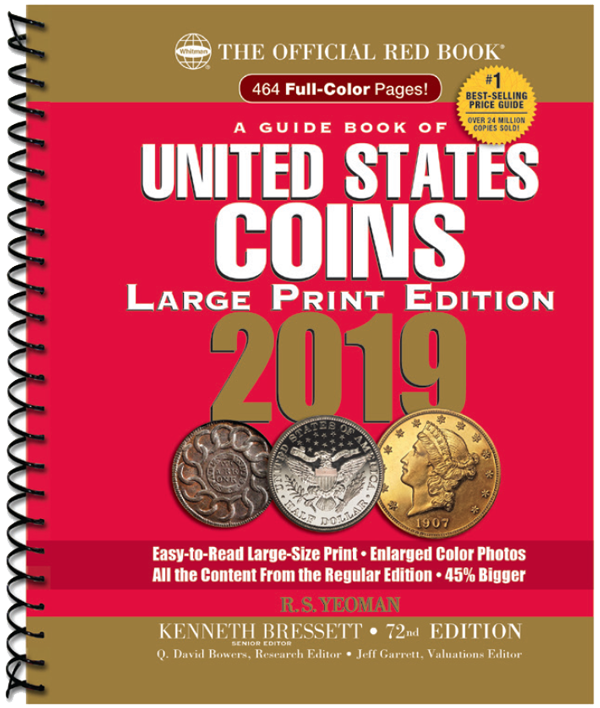 2019 Red Book Price Guide of United States Coins, Large Print