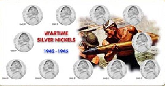 Wartime Silver Nickel Set Holder