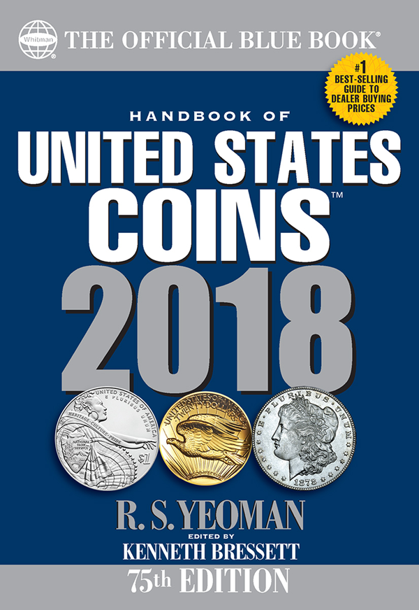 2018 Blue Book, Handbook of US Coins Paperback
