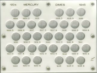 United States Mercury Dimes 1934-1945s