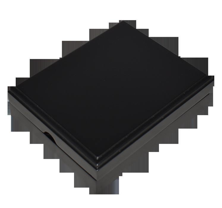 Universal Wood Display Box - 1 Coin Slab (Matte Black)