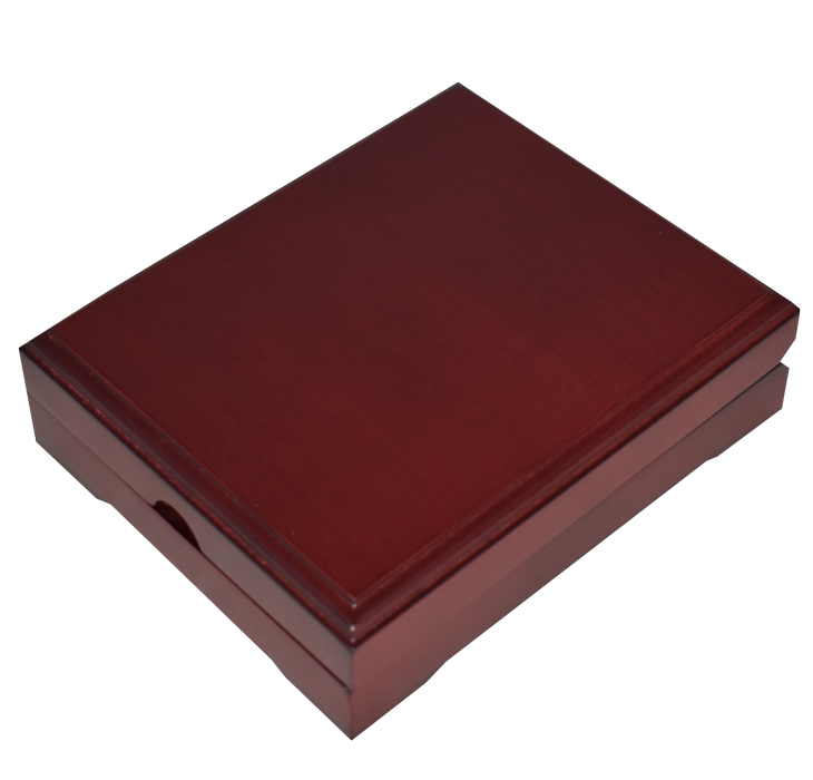 Universal Wood Display Box - 1 Slab (Sedona Red)