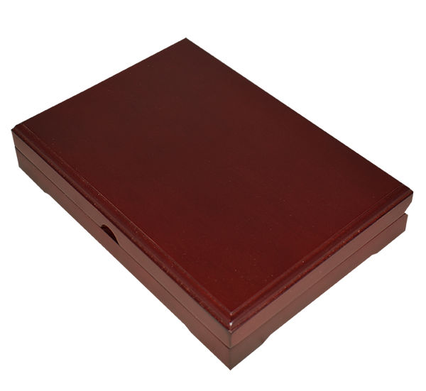 Universal Wood Display Box - 2 Slabs (Sedona Red)