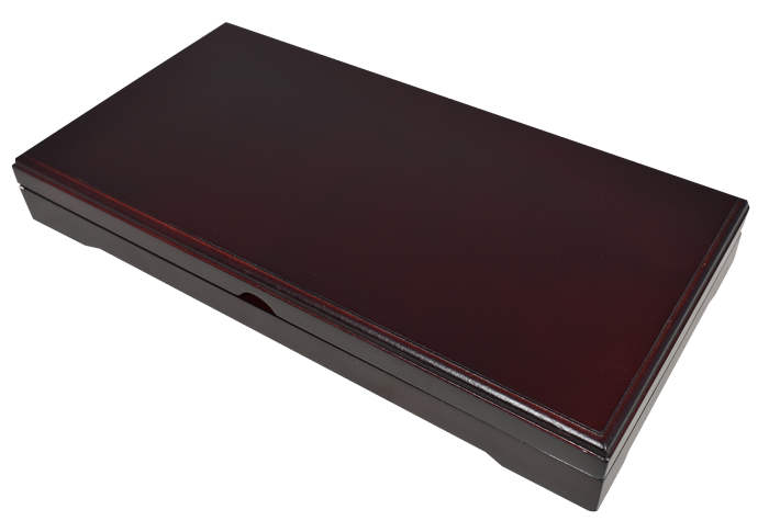 Universal Wood Display Box - 3 Slabs - Dark Mahogany