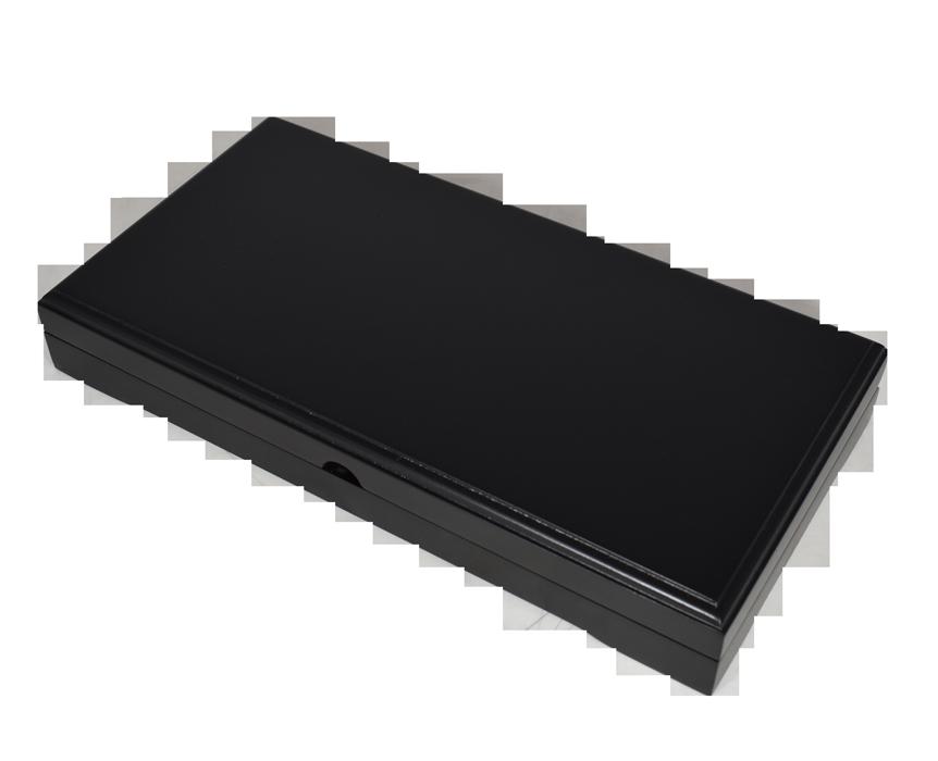 Universal Wood Display Box - 3 Slabs (Matte Black)