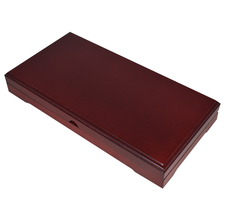 Universal Wood Display Box - 3 Slabs (Sedona Red)