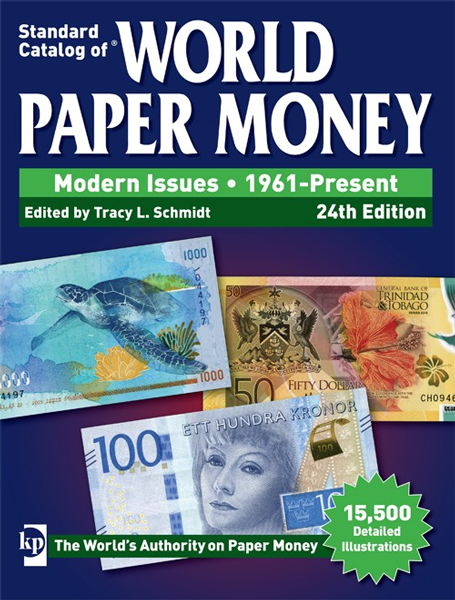 World Paper Money Modern Issues 1961 - Present 24th Edition