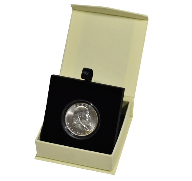 Guardhouse Magnetic Lid Coin Capsule Box ( M ) - Tan