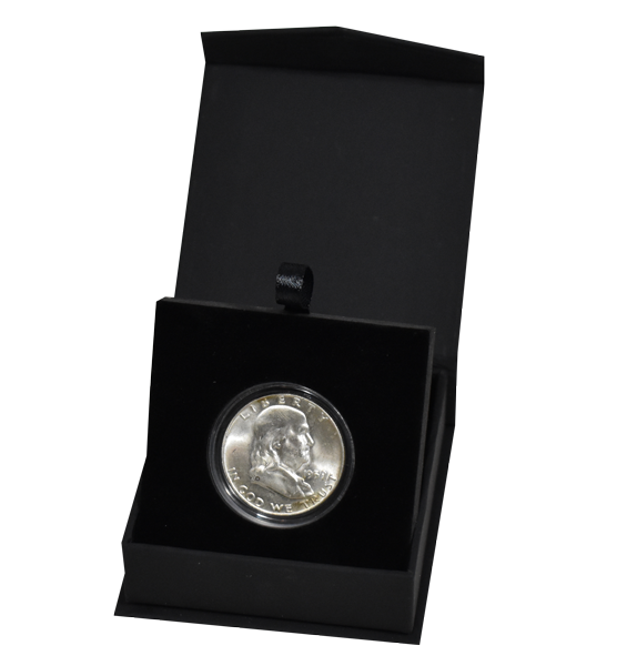 Guardhouse Magnetic Lid Coin Capsule Box ( M ) - Black