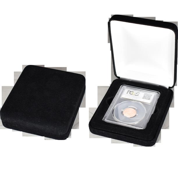 One Slab Metal Shell Slab Box - Black Velour