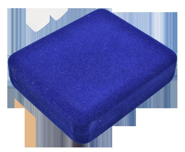 One Slab Metal Shell Slab Box - Blue Velour