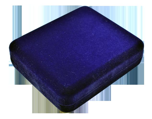 One Slab Metal Shell Slab Box - Blue Velvet