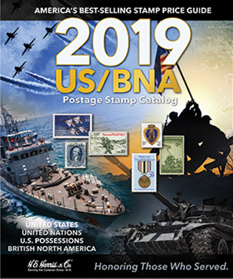 2019 HE Harris US/BNA Postage Stamp Catalog