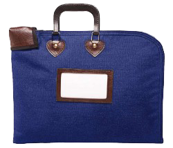 Locking Fire Block Briefcase 18x14 - Navy Blue