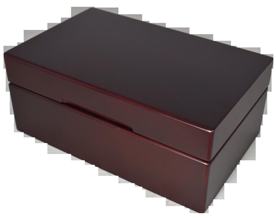 Guardhouse Wood Storage Box for 30 Slabs - Dark Mahogany