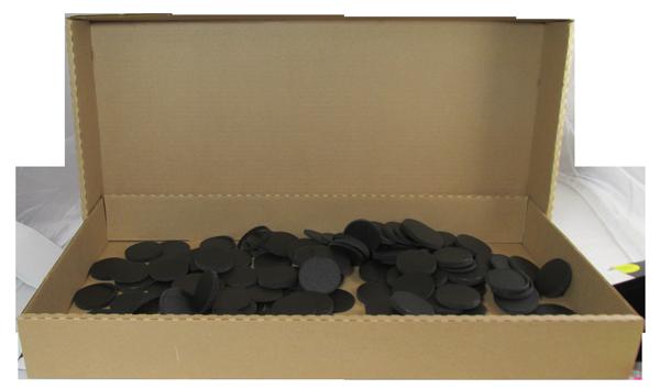 38mm Model X6D Air Tite Black Rings - Bulk Pack 250