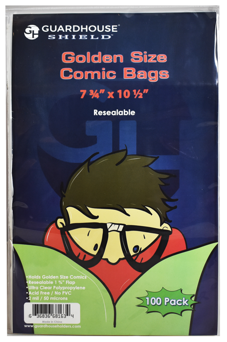 Guardhouse Resealable Shield Bag for Golden Comic Books
