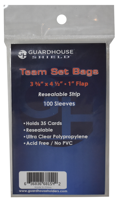 Shield Resealable Sleeve for Team Set Bags